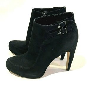 Sam Edelman Black Kit Ankle Heeled Boots Size 8 M
